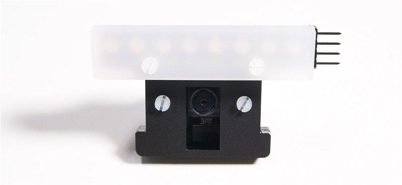 Neopixel diffuser mounted