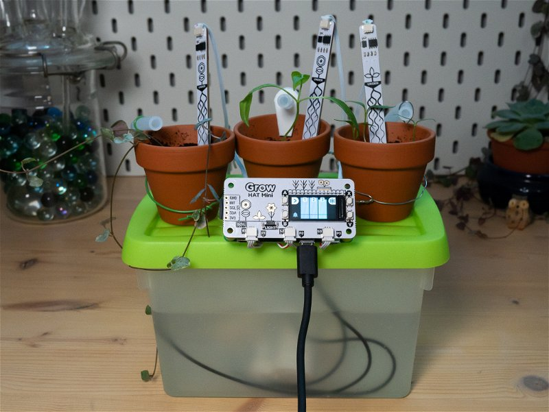 Finished setup with all the pumps and moisture sensors plugged in