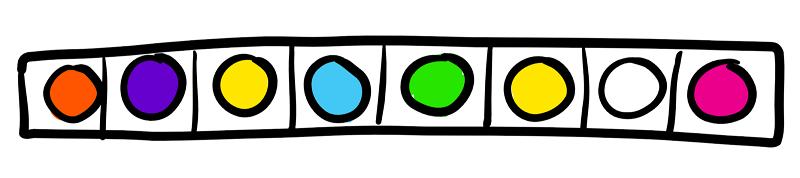 Coloured Blinkt! strip