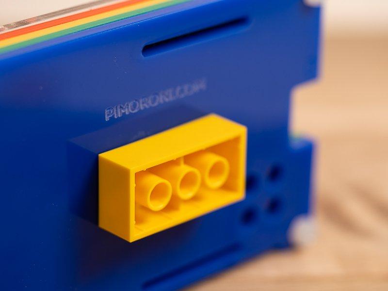 LEGO brock mounted
