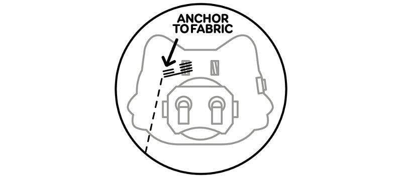 Stitch running to sensor