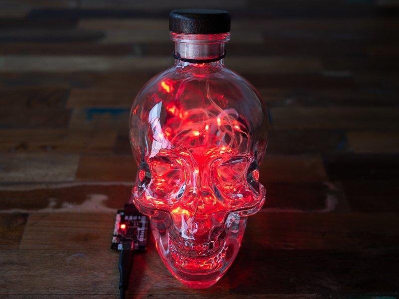 Busy light in an ominous skull