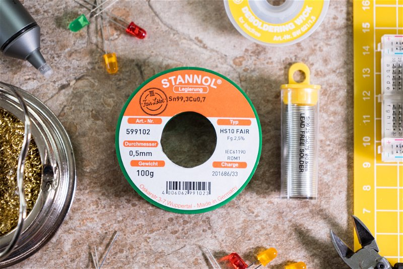 Antex lead-free and Fairlötet fair trade solder